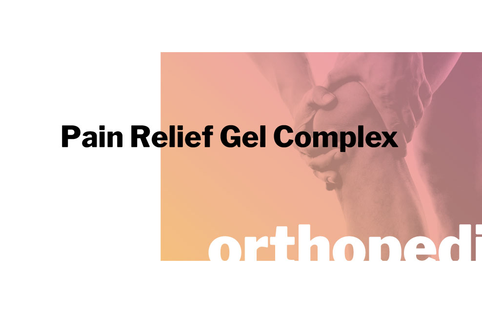 innpharm project Pain Relief Gel Complex for orthopedic and sport market